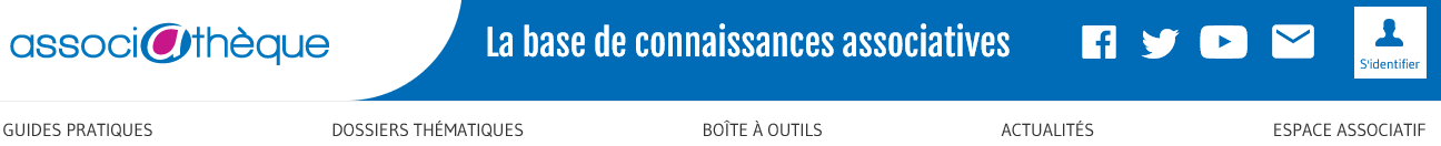Le header du site Associathèque